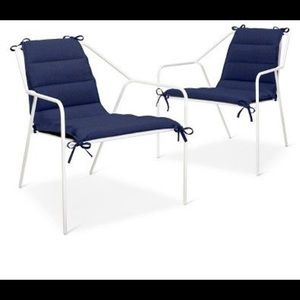 Navy Modern Outdoor Chair Cushion - 1 Cushion Only